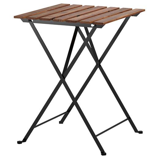 Tavolo in ferro e legno pieghevole