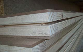 Pannelli in legno tamburati