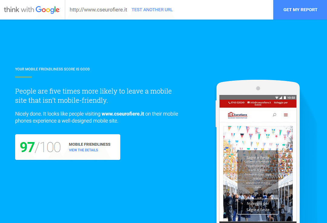 C.S. Eurofiere test Google 97/100